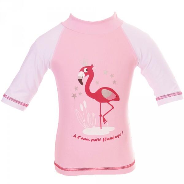 Tee-shirt anti-uv flamingo 12-24 mois Piwapee