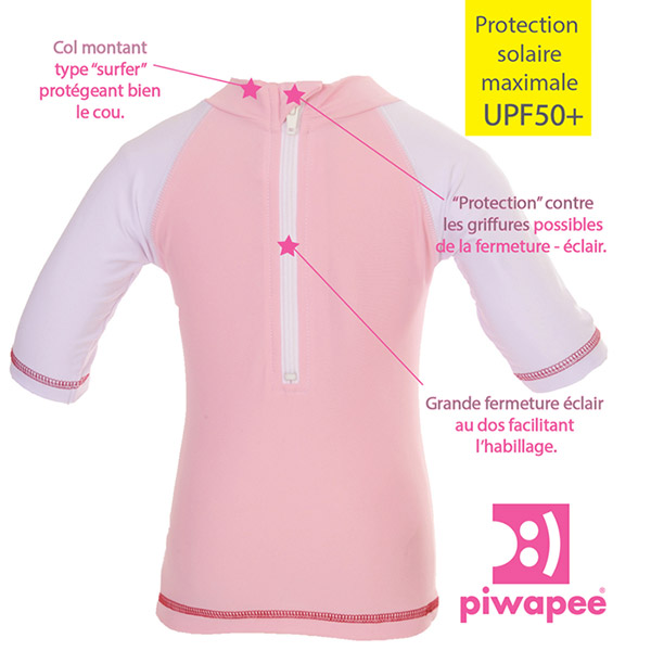 Tee-shirt anti-uv flamingo 24-36 mois Piwapee