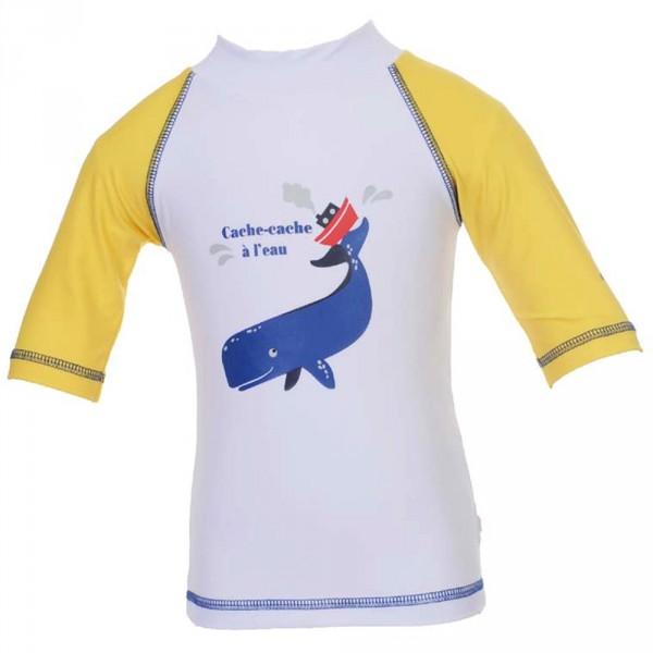 Tee-shirt anti-uv cachalot 6-12 mois Piwapee