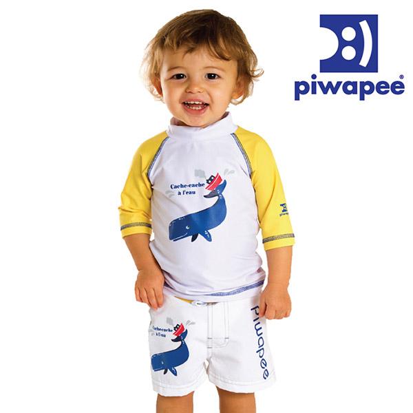 Tee-shirt anti-uv cachalot 12-24 mois Piwapee