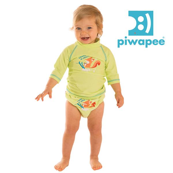 Tee-shirt anti-uv écureuil 6-12 mois Piwapee