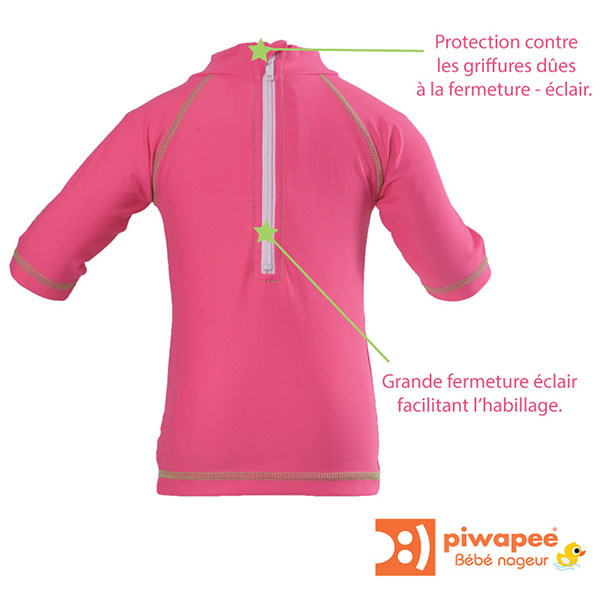 Tee-shirt anti-uv rainette 3-6 mois Piwapee