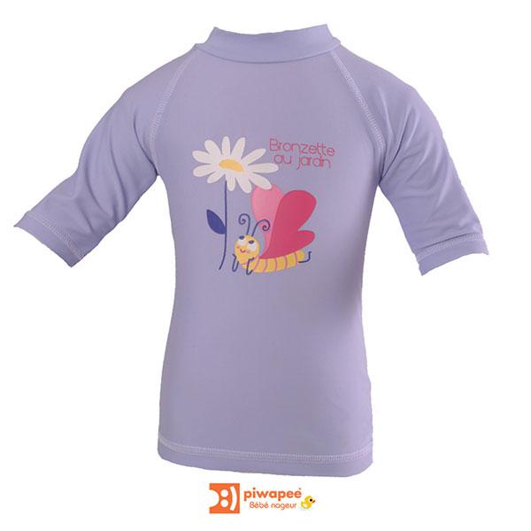 Tee-shirt anti-uv papillon 6-12 mois Piwapee