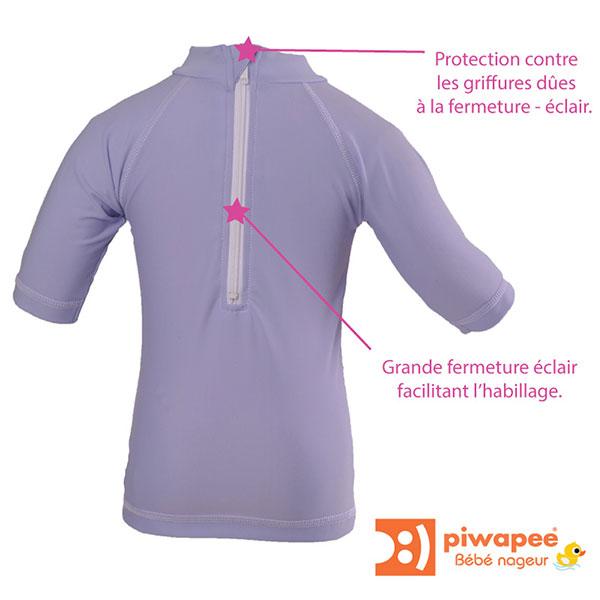 Tee-shirt anti-uv papillon 24-36 mois Piwapee