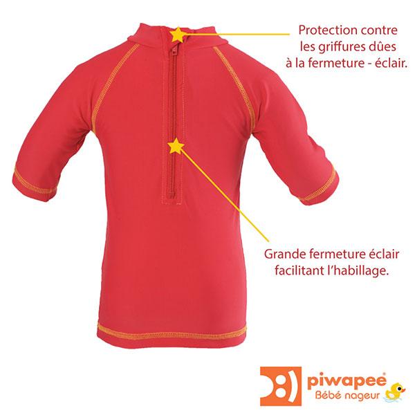 Tee-shirt anti-uv dauphin 12-24 mois Piwapee
