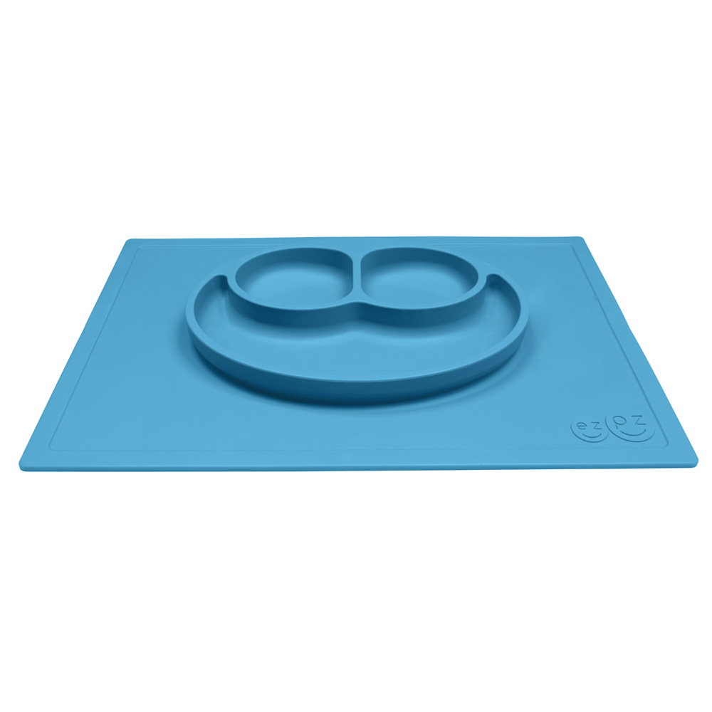 Assiette et set de table tout en un happy mat bleu de ezpz for Un set de table