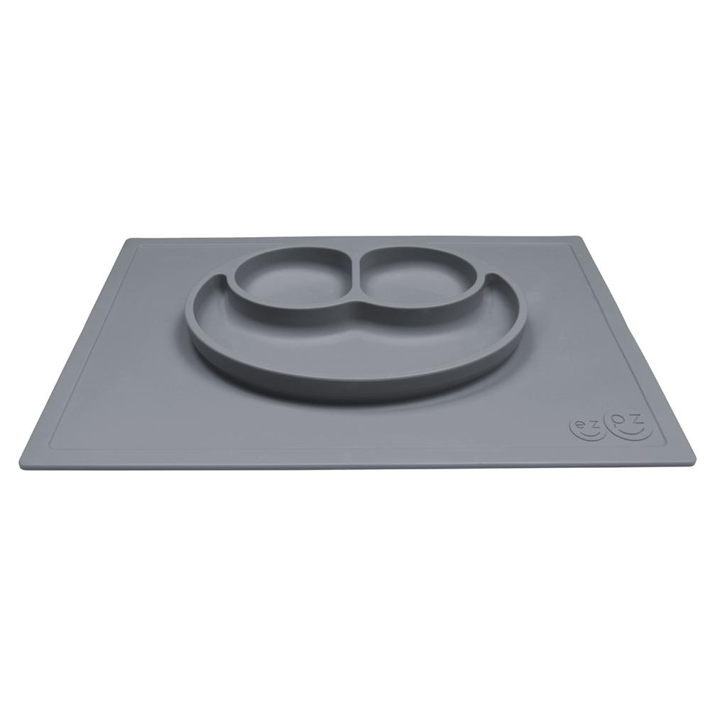 Assiette et set de table tout en un happy mat gris de ezpz for Un set de table