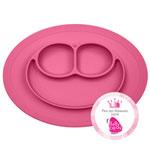 Assiette et set de table tout en un mini mat pink