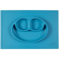 Assiette et set de table tout-en-un happy mat bleu