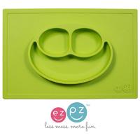 Assiette et set de table tout-en-un happy mat vert