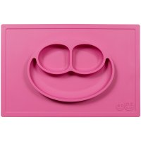 Assiette et set de table tout-en-un happy mat rose