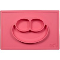Assiette et set de table tout-en-un happy mat corail