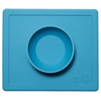 Bol avec set de table tout-en-un happy bowl bleu