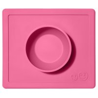 Bol avec set de table tout-en-un happy bowl rose