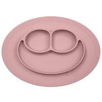 Assiette et set de table tout-en-un mini mat rose poudré