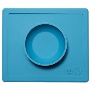 Bol avec set de table tout-en-un happy bowl bleu