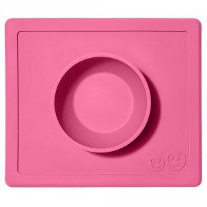 Bol avec set de table tout-en-un happy bowl rose