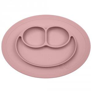 Assiette et set de table tout-en-un mini mat rose pudré