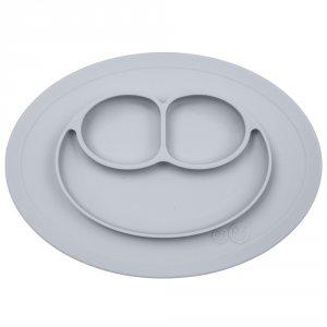 Assiette et set de table tout-en-un mini mat étain argenté