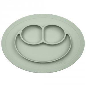 Assiette et set de table tout-en-un mini mat vert amande
