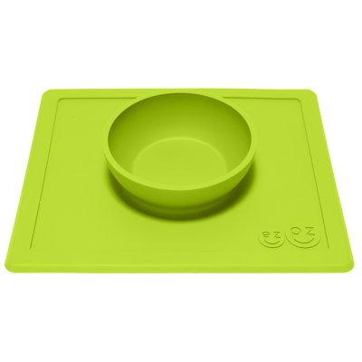 Bol avec set de table tout-en-un happy bowl vert Ezpz