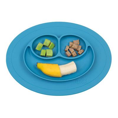 Assiette et set de table tout en un mini mat blue Ezpz