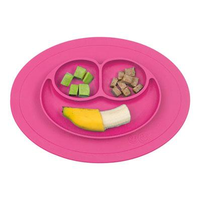 Assiette et set de table tout en un mini mat pink Ezpz