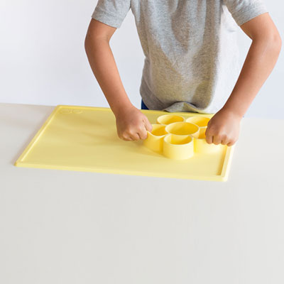Set de table play mat yellow Ezpz