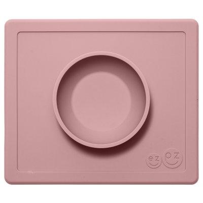 Bol avec set de table tout-en-un happy bowl rose poudré Ezpz
