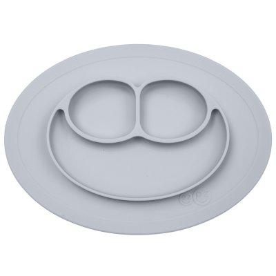 Assiette et set de table tout-en-un mini mat étain argenté Ezpz