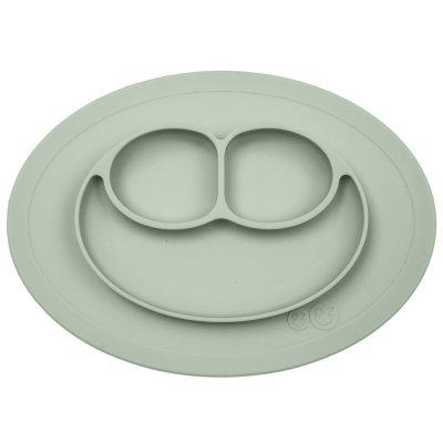 Assiette et set de table tout-en-un mini mat vert amande Ezpz
