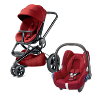 Pack poussette duo moodd red rumour + cabriofix robin red