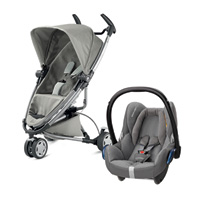 Pack poussette duo zapp xtra 2 grey gravel + cabriofix concrete grey