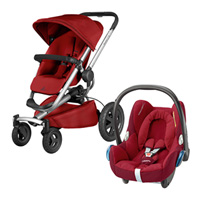 Pack poussette duo buzz xtra red rumour + cabriofix robin red