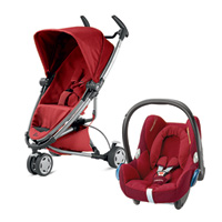 Pack poussette duo zapp xtra 2 red rumour + cabriofix robin red