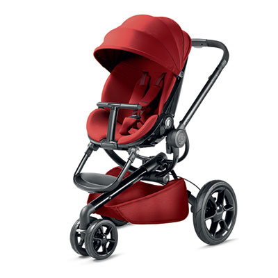Pack poussette duo moodd red rumour + cabriofix robin red Quinny