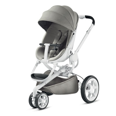 Pack poussette duo moodd grey gravel + cabriofix concrete grey Quinny