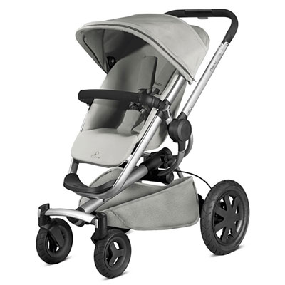 Pack poussette duo buzz xtra grey gravel + cabriofix concrete grey Quinny
