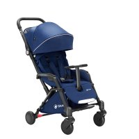 Poussette 4 roues compact tody bleu