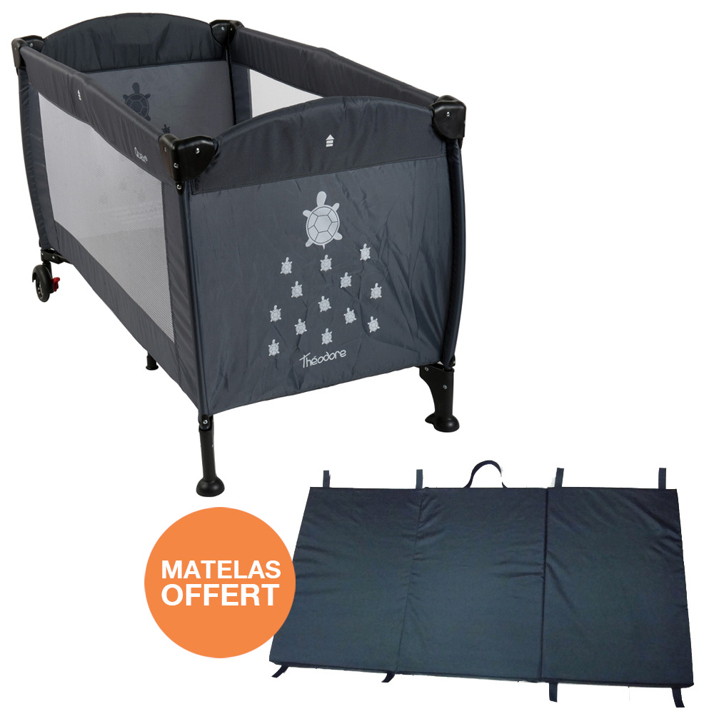 quax lit parapluie 60 x 120 cm th odore matelas pliant offert. Black Bedroom Furniture Sets. Home Design Ideas