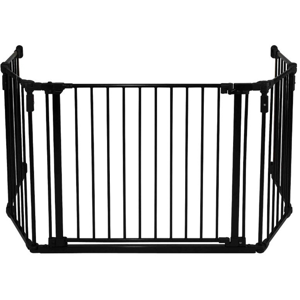 Barriere de s curit pare feu grand modele noir de quax - Barriere de securite escalier sans vis ...