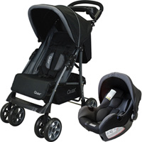 Pack poussette duo black