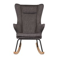 Fauteuil rocking chair de luxe black
