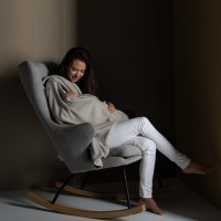 Fauteuil rocking chair de luxe sand grey