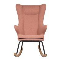 Fauteuil rocking chair de luxe soft peach