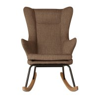 Fauteuil rocking chair de luxe latte