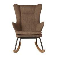 Fauteuil rocking chair de luxe latte