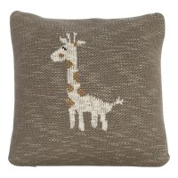 Coussin tricot 30 x 30 cm girafe