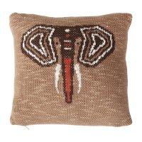 Coussin tricot 30 x 30 cm éléphant