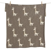 Couverture tricot on the go xl giraffe